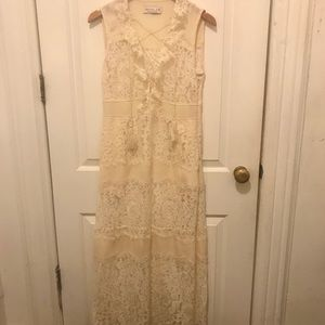 RACHEL ZOE SILK AND LACE GOWN